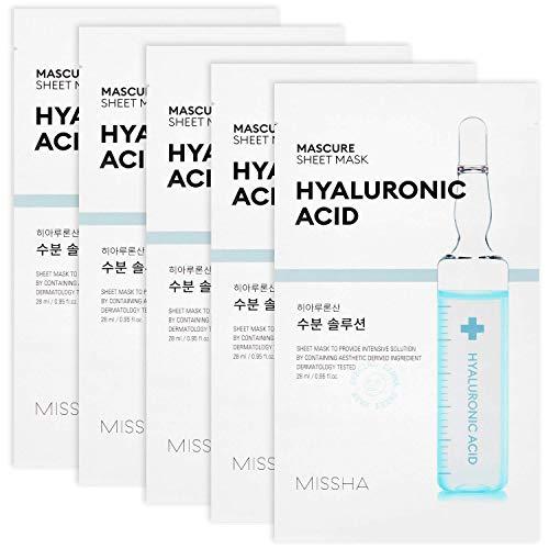 MISSHA Mascure Hydra Solution Sheet Mask, ácido hialurónico, 1 pieza