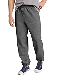 50% Cotton/50% Polyester fleece, with up to 5% made from recycled plastic bottles Inside draw cord for secure fit Cinched cuffs for athletic fit Machine wash cold with like colors; non chlorine bleach when needed; Tumble dry medium