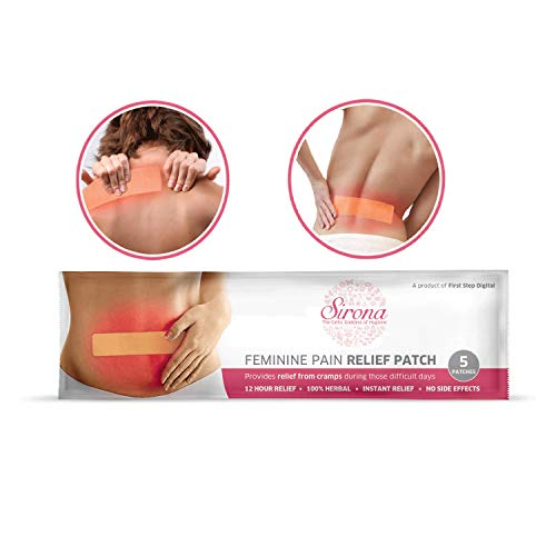 Sirona Herbal Period Pain Relief Patches - Packung mit 5 Stück | Sofortige Linderung von Menstruationsbeschwerden | Coole Pflaster ohne chemische Wirkstoffe, ohne Nebenwirkungen