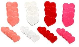 100 Felt Valentines Day Heart Stickers
