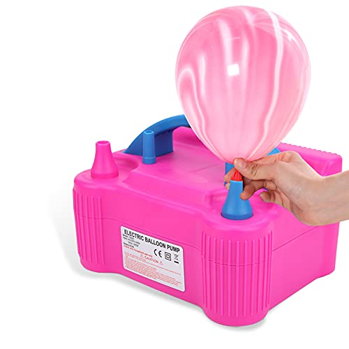 Bomba de globo eléctrica de 2 boquillas de 600 W, inflador de...