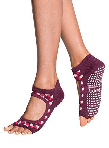 Tucketts Damen-Yoga-Socken, rutschfest, Pilates-Socken mit Noppen, ohne Zehen, rutschfest, für Sport, Ballett, Tanz, Workout, Training –...