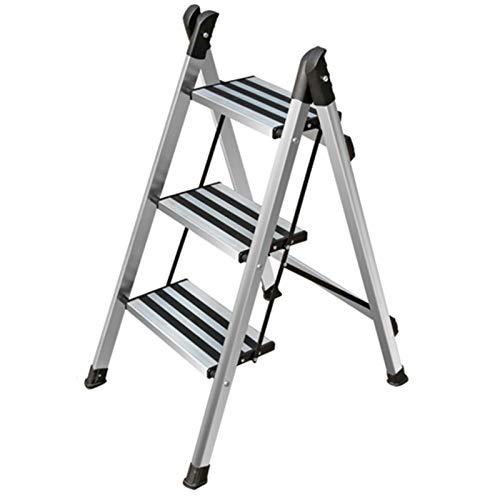WHOJA Escalera De Acero de 2 Escalones Escalera de Aluminio para el hogar Portátil Pedal Antideslizante Taburete de Cocina 150 kg de Carga Ligera y Resistente (Size : 3 Step Ladder)