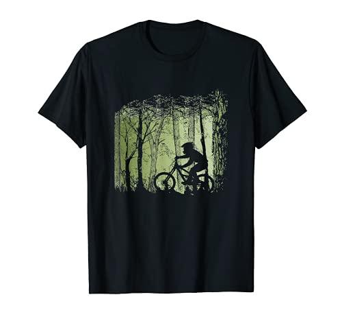 Bike Mountainbike MTB Wald Downhill Vintage Retro Enduro T-Shirt
