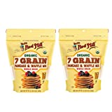Bob's Red Mill Organic 7 Grain Pancake & Waffle Mix 24 oz features a multi-grain organic flour blend, which includes whole grain wheat, rye, spelt, corn, oat, Kamut, quinoa and brown rice flours, and flaxseed meal Organic 7 Grain Pancake and Waffle M...