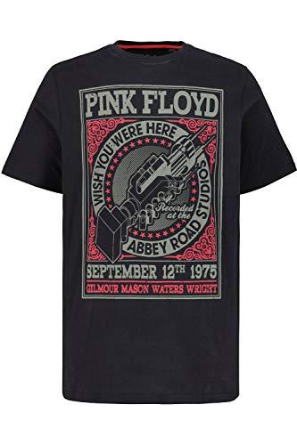 JP 1880 Herren große Größen bis 7XL, T-Shirt, XL Pink Floyd Motiv, Rundhalsausschnitt, Halbarm, schwarz XXL 720235 10-XXL
