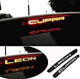 N/A Voiture Carbone Fibre Frein Lampe Autocollant, pour Seat Leon Cupra FR FR+ Arrière Feux de Stop Stickers, Car Stop Lampe Papier Décoration Accessoires