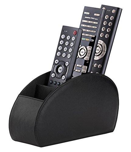 Connected Essentials Fernbedienungshalter Halterung für Fernbedienung, Schwarz, 5 Fächer für TV, DVD, Blu-Ray-Fernbedienungen — CEG10 Schwarz