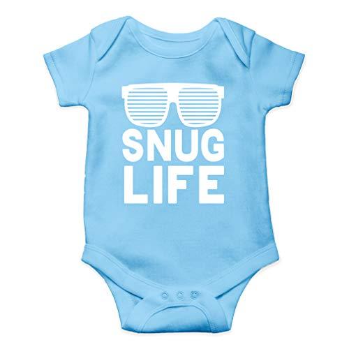 Snug Life - Hip Hop Funny Parody - Coolest Baby Ever - Cute One-Piece Infant Baby Bodysuit (12 Months, Light Blue)
