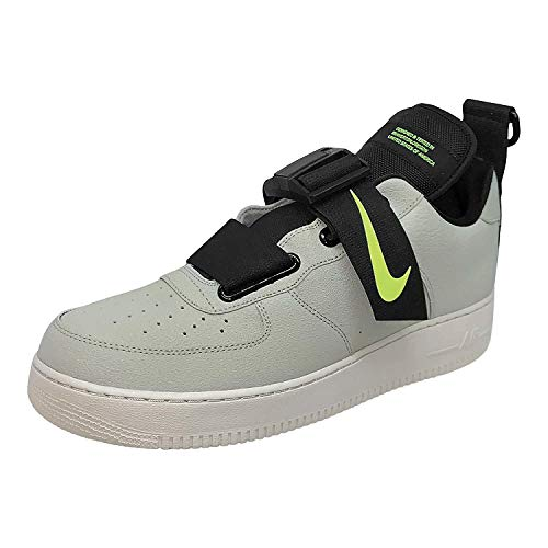 Nike Air Force 1 Utility, Zapatillas de Baloncesto para Hombre, Multicolor (Spruce Fog/Black/Volt/Light Bone 301), 43 EU