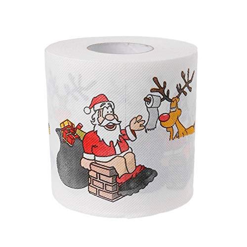 2 Lagen Kerst Kerstman Herten Toiletrolpapier Tissue Woonkamer Decor Toiletpapier Gift