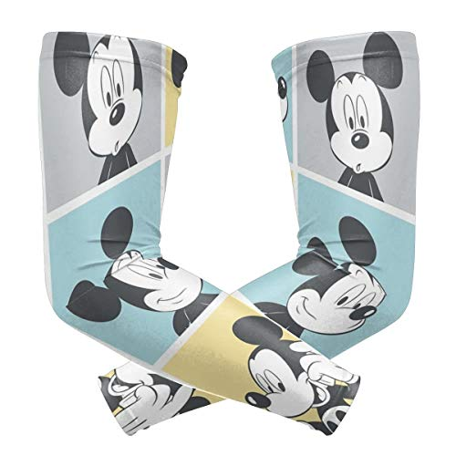 Mickey Mouse Pop Art Arm Sleeve - UV Protection Cooling Compression Sun Sleeves for Men & Women for Running, Cycling,Baseball, Basketball, Golf