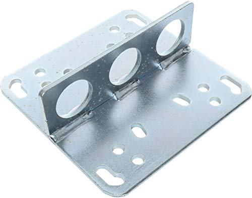 JEGS Engine Lift Plate | Universal | 1000 LBS Capacity | Designed To Allow Lifting Of Engine At 3 Different Angles | Zinc-Plated Steel | Fits Holley 2-Barrel, Square and Spread Bore, 4500