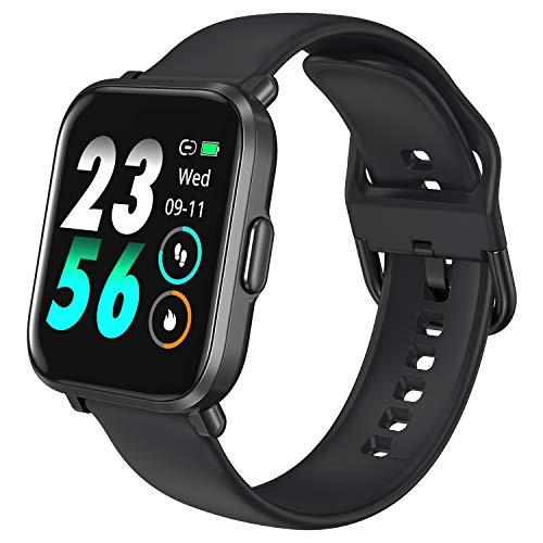 HolyHigh Smartwatch Fitness Pantalla Táctil Reloj Inteligente Fitness con Ritmo Cardíaco & Monitor de Sueño Cronómetro Podómetro IP68 Impermeable Rastreador para Hombres y Mujeres