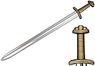 Medieval Viking 9th Century Foam Sword Chrome Blade Cosplay Costume Larp