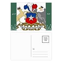 チリ国家エンブレムの国 グッドラック・ポストカードセットのカードを郵送側20個