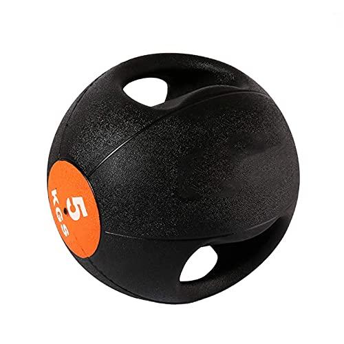 PLUY Pelota Medicinal para Fitness Binaural, Pelota Hinchable de Goma sólida para Entrenamiento, 3 kg/4 kg/5 kg/6 kg/7 kg/8 kg/9 kg/10 kg (Tamaño: 10 kg/22 LB)