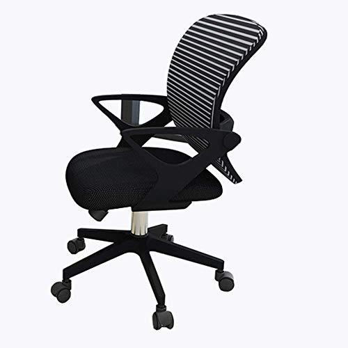 Mscxj Computer Stuhl Menschlicher Körper Kurve Breathable Ineinander greifen Druck Latex Kissen aus Kunststoff (Color : Black)