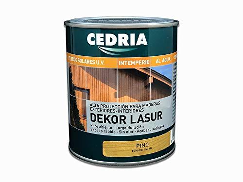 Lasur protector madera exterior al agua Cedria Dekor Lasur 750 ml (Pino)