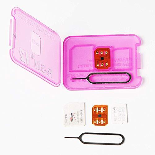 RSIM 12 Più Nuovo R-SIM Nano Sblocco Card, Smart 4G Card Sblocco Adattatore Scheda Kit Convertitore con Strumenti per iPhone X 8 P 8 7 6SP 6P 6S 6 5C 5S 5