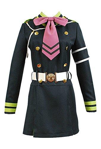 Seraph of The End Shinoa Hiragi Uniform Kleid Cosplay Kostüm M