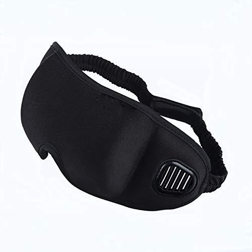 Schwarze maske Tragbare Weiche Reise Schlaf Rest Hilfe Augenmaske Abdeckung Augenklappe Schlafmaske Fall Augenklappe Schlafmaske Augenbinde