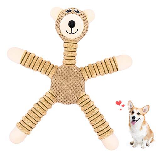 V-HANVER Spielzeug für Hund, Interaktive Quitschend Kauen Hundespielzeuge, Für Hund und Plüschtierspielzeuge mit Füllung, Sicher&Ungiftig Kauspielzeug für Kleine und Mittel Hunde