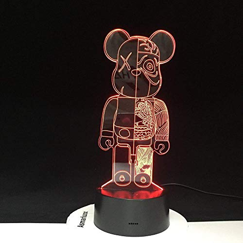 Cartoon 3D Cute Led Night Light Bulb Touch Mood Table Lamp Lava Spaceship With Remote Control