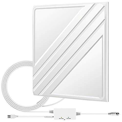 TV Antenna, Digital HDTV Antenna - 80-120 Miles 16ft Coax Cable Support 4K 1080P HD Compatible with Samsung&TCL&Toshiba Smart TV Indoor Signal Amplifier Booster Multiple Direction