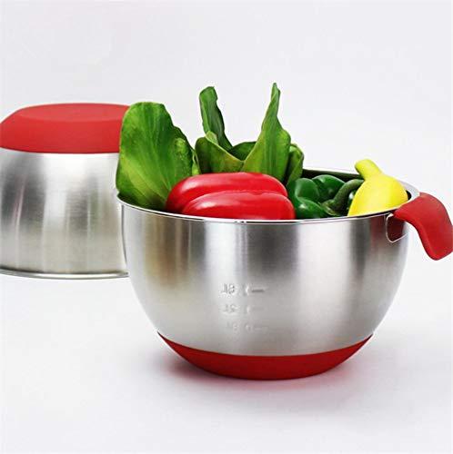 QVC rührschüssel Edelstahl Kuchen Brot Salat Mixer küche kochwerkzeug mit Deckel, 24 cm