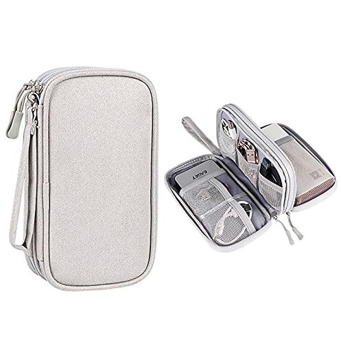 N\C Bolsa de alimentación móvil portátil U S B Cargador multifunción Gadget Cable Cable de almacenamiento Bolsa de viaje Accesorios electrónicos Caja de almacenamiento de protección