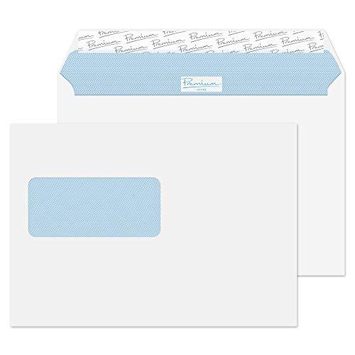 Premium Office 34214W Briefumschlag Haftklebung Mit Fenster Ultra Weiß Wove C5 162 x 229 mm 120g/m²   50 Stück