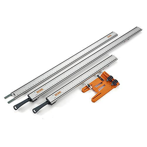 BORA 4-pc WTX Deluxe Set, Includes: 24-Inch & 50-Inch WTX Clamp Edges, 50-Inch Extension, Saw Plate -545410