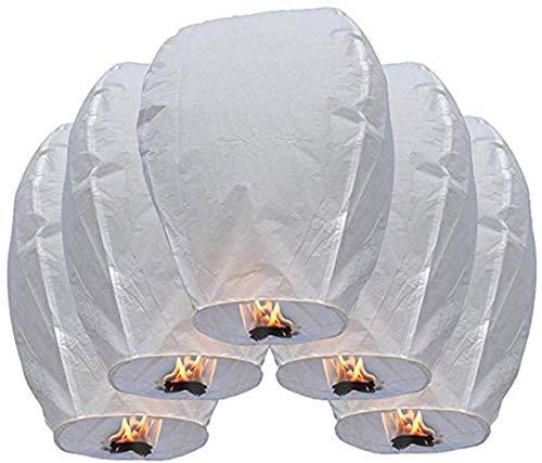 10/20 farolillos voladores chinos del cielo (10 unidades blancas)