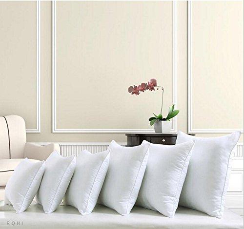 ROHI Square Polyester Cushion Pad Inserts, Filler Inner, Full Range of Sizes, White (Pack of 1, 20' x 20' (50cm x 50cm))