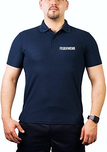 Polo bleu marine multifonctions, pompiers Argent de Police réfléchissants S bleu marine