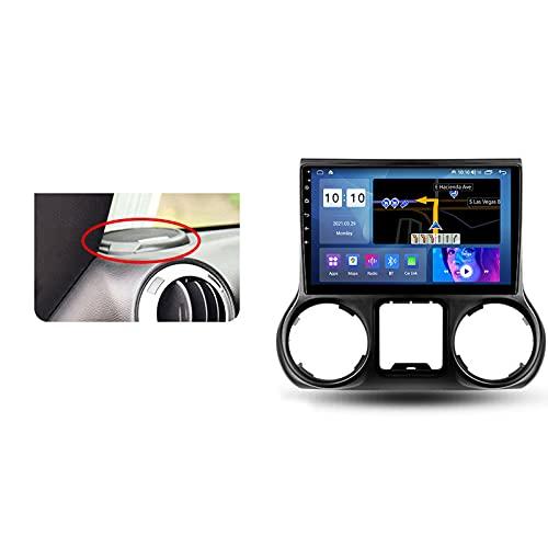 ADMLZQQ Autoradio Coche Bluetooth 2 DIN Android Radio De Coche 9'' Pantalla Táctil 5G WiFi Plug and Play Completo RCA Soporte Carautoplay/GPS/Dab+/OBDII para Jeep Wrangler 3 JK 2010-2018,Type a,M200S