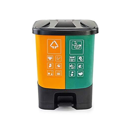 ZXC Home Afvalemmer voor thuis, woonkamer, keuken, badkamer, yard, vuilnisbak, kunststof, voetafdekking open robh
