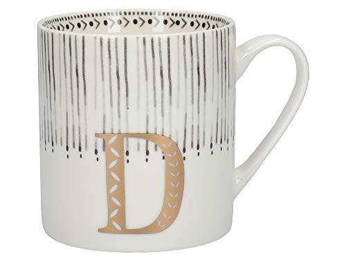 Creative Tops Alphabet-Tasse mit D-Design, feines Porzellan, mehrfarbig, 350 ml (4 von 26 Buchstaben-Tassen)