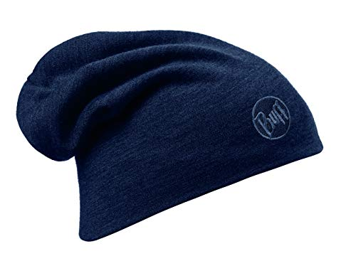 Buff Erwachsene Mütze Merino Thermal, Solid Denim, one size