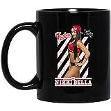 WWE Nikki Bella Logo Fearless Pose 11 oz. Black Mug