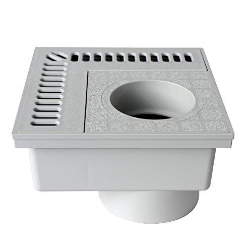 First Plast CHAN20G hoekstuk, PVC, grijs, 200 x 200 mm