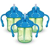 Playtex Sipsters Stage 1 Straw Trainer Sippy Cup 6oz 1-Pack Assorted Colors, Pack of 3