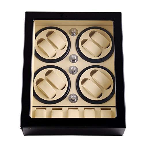 SXM Caja Winder Reloj automático, for 8 + 5 Relojes Expositor de Madera Cajas de Almacenamiento, con silencioso Motor Box Watch Winder