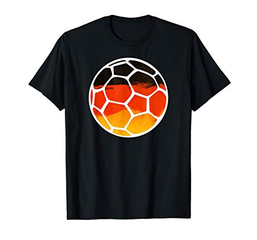 Fan Trikot und Handball T-Shirt mit Deutschland Flagge T-Shirt