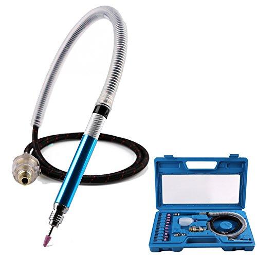 Valianto 1/8' (3mm) Air Micro Grinder, Pneumatic Pencil Die Grinder, 58000 RPM Free Speed