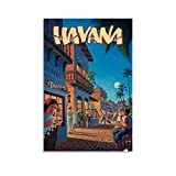 WERTF Vintage-Reise-Poster, Havanna, Kuba,