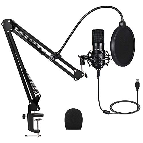 USB Streaming Podcast PC Microphone,Professional Computer Mic 192kHz/24bit Studio Cardioid Condenser...