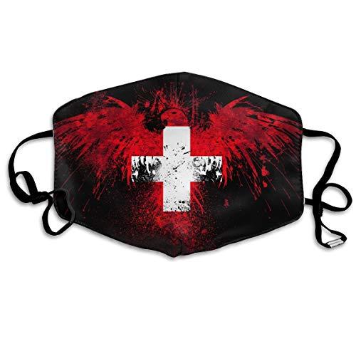 Zwitserland Vlag Unisex Volledige Coverage Buis Gezicht Masker Bandanas UV Bescherming Hals Gaiter Hoofdband