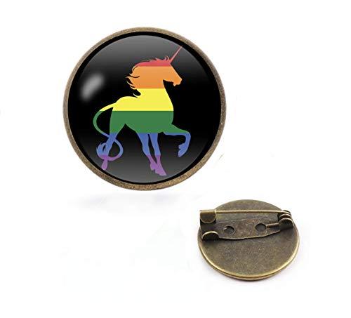 Patch Nation Pin de Metal para Cosplay, diseño de Unicornio Gay Orgullo LGBTQ